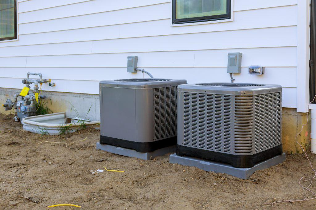 室内室外安装空调系统.